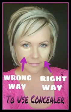 Younique Concealer is so pigmented you only need a small dot! Beauty Makeup Tips, Beauty Hacks, Hair Beauty, Contour Makeup, Skin Makeup, Contouring, Makeup Tips For Older Women, Makeup Over 50, Long Pixie Hairstyles