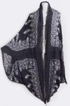 Bohemian Gypsy Kimono Peasant Oversized Cardigan Boho #bella #Kimono