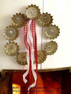 tart tin wreath
