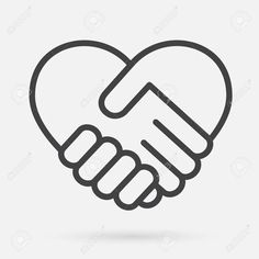 Heart handshake Icon Stock Vector - 97459364