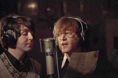 John e Paul. Fotografados por Ringo