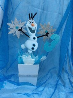 Disney Frozen Olaf Inspired Birthday CenterPiece!!!!    1 Center Piece Decoration for your party!!!      Please, make sure you order with 2