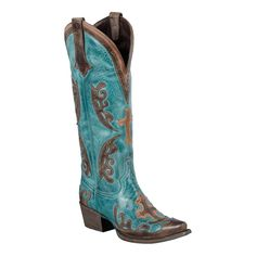 Lane Boots Grace Turquoise and Brown Boots...these WILL BE my next pair!