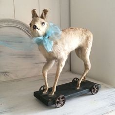 Fawn pull toy