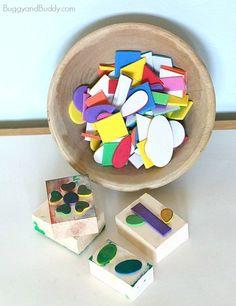 DIY Foam Stamps for Kids