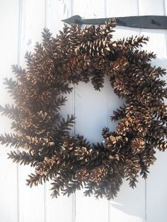 Large Maine Pinecone wreath. $35.00, via Etsy. Maybe I ought to keep some of the billions of pinecones in my front yard...