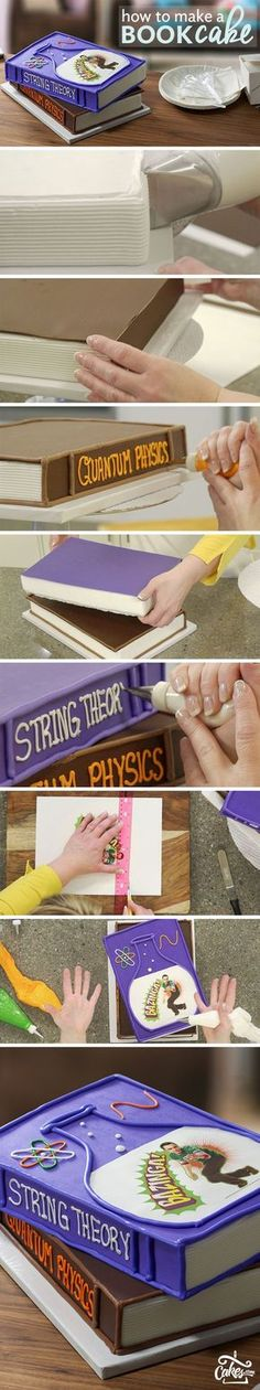 Create the smartest Big Bang Theory Book Cake.