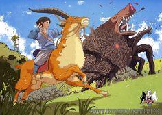 Princesse Mononoke hayao Miyazaki