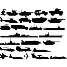 Military Vehicles - Kids Room - Vinyl Wall Decal