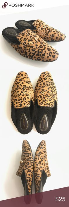 ac04c25f73c0 Derek Lam Cheetah Pony Hair Mule Slippers Sz 9/10 Mule style slippers by  Derek