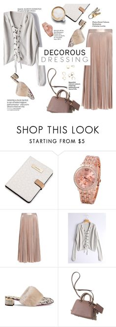 """""""decorous dressing"""" by lux-life ❤ liked on Polyvore featuring Calvin Klein, Caffé, A.L.C., Gucci and Whiteley"""