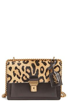 Free shipping and returns on Saint Laurent 'Small High School' Genuine Calf Hair & Calfskin Leather Satchel at Nordstrom.com. Leopard-print calf hair adds an exotic air to this structured calfskin satchel featuring impeccable Italian craftsmanship and a polished chain-link shoulder strap.