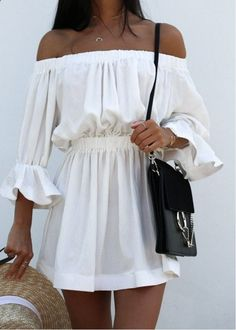 mini dresses,white dresses,dresses for girls,casual dresses,party dresses - je préfère avec les épaules...