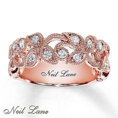 Diamond Ring 1/2 ct tw Round-cut  14K Rose Gold