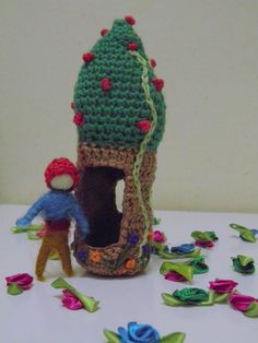 Tree Cottage and a Gnome by AubreyMade on Etsy, $25.00