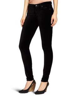 7 For All Mankind Women's The Velvet Skinny Pant 7 For All Mankind. $88.99. 8.8 ounce stretch velveteen. 71% Cotton/27% Rayon/2% Spandex. Machine Wash. Made in Mexico. Zip fly