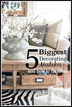 We all make them. I have certainly made my share. I'm talking about decorating mistakes. Undoing some decorating mistakes are easy but some are hard to correct without costing a good deal of money! Today, I'm sharing 5 common but BIG decorating mistakes that you can avoid making. And if like me, you already have …