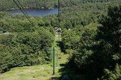 Looking down at Gray Lake while coming down McCauley Mountain, Old Forge, NY