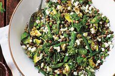 Pesto, pistachio and greens