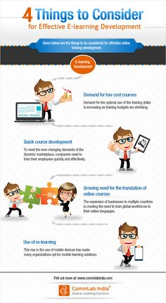 4 Things to Consider for Effective E-learning Development [Infographic]