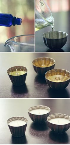 DIY vintage tin candles!
