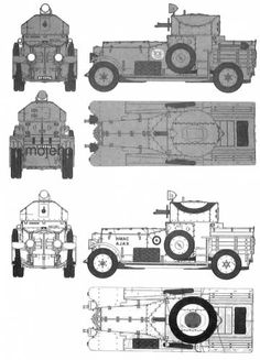 > Tanks R Rolls Royce Armoured Car MkI Pattern 1920