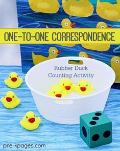 Correspondence Activities for Preschool One to One Correspondence Duck Counting Activity for Preschool. Make Learning How to Count Meaningful and Fun for Your Preschoolers and Kindergarten Kids! Numbers Preschool, Preschool Lessons, Preschool Classroom, Preschool Learning, Kindergarten Math, Teaching Kids, Montessori Preschool, Montessori Elementary, Preschool Farm