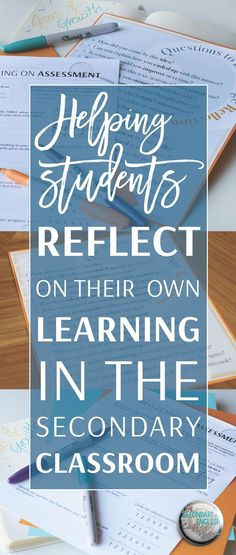 Resources and ideas for embedding reflection in the secondary classroom!