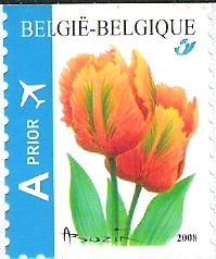 Belgian stamps Definitive Issue - Flowers - self-adhesive.'Tulipa Orange favourite'