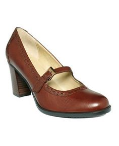 I almost ordered these, and then I remembered what it does to my feet to wear even a modest heel. I had a pair much like this back in the 60s, with the stacked heel but no strap. Same color.