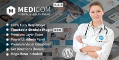 Medicom is a fully responsive premium Wordpress theme that suits to every medical & health websites. It is built with Bootstrap 3 and includes lots of awesome features. It includes Premium Visual Composer page builder and Premium Layer Slider. Medicom includes Font Awesome and special Medicom Icons in it. You can use the incredible get direction option for your Google Maps too.  It is well documented and has 5 variation of homepages that you can use. 3 header options which you can use as…