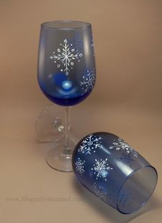 Hand Painted Dishwasher Safe Spiral Holiday by ElegantlyHaunted