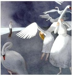 "Lisbeth Zwerger's Illustrations for ""Swan Lake"" - Book Artists and Their Illustrations - Quora"