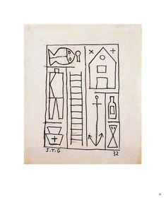 """Estructura"" 1932 Tinta sobre papel 18,6x15,7 cms JOAQUÍN TORRES-GARCÍA"