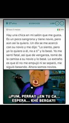 muy bien , eso es, demuéstrale quien manda Funny Video Memes, Funny Short Videos, Stupid Funny Memes, Lgbt Memes, Dankest Memes, Funny Spanish Memes, Cute Gay Couples, Lettering Tutorial, Fujoshi