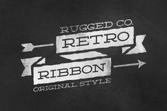120 Retro Banners & Ribbons