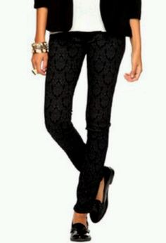 Cheap and love em. Forever 21 damask skinny