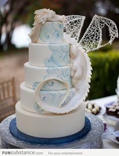 Epic Dragon Wedding Cake