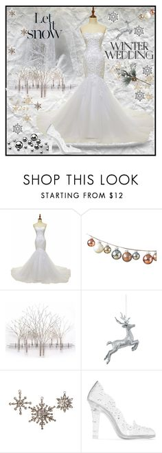 """""""Winter Wedding"""" by jeneric2015 ❤ liked on Polyvore featuring Home Decorators Collection, Dolce&Gabbana and winterwedding"""