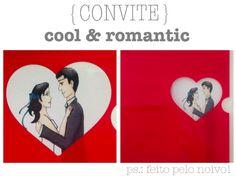 {papelaria} Convite coração vazado + ilustração, feito pelo noivo | Colher de Chá Noivas – O blog dos casamentos criativos #convite #cute #designvazado