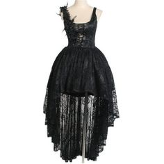 Gardenia Black Lace Gothic Corset Dress by Punk Rave (185 CAD) ❤ liked on Polyvore featuring dresses, black dress, goth corset, lace cocktail dress, gothic dress and goth dress