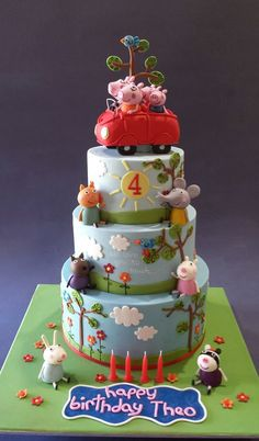 Peppa Pig Cake By Sweet Ruby Cakes                                                                                                                                                                                 More
