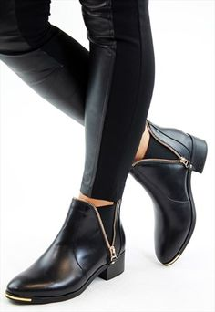 8143d02a453a0 Black+Zip+Embellished+Chelsea+Pull+On+Ankle+Boots Chelsea