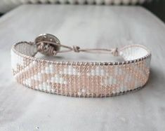 Pretty handmade beaded bracelet! Bohemian Bracelets, Beaded Bracelets, Jewelry Shop, Jewelry Accessories, Crochet Gifts, Handmade Shop, Sell On Etsy, Crystal Jewelry, Handcrafted Jewelry