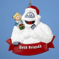 "BUMBLE & HERMEY ""BEST FRIENDS"" ORNAMENT"
