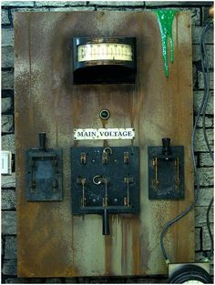 This Mad Scientist lab prop includes a switch to pull the plug on electricity going into Frankenstein. Description from pinterest.com. I searched for this on bing.com/images