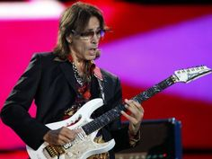 Steve Vai with one of his Ibanez JEM guitars.
