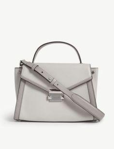 4476d2d2c195 MICHAEL MICHAEL KORS Whitney leather messenger bag