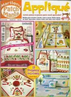 Album Archive - 18 Mariley patch mania applique n. Applique Fabric, Sewing Appliques, Embroidery Applique, Machine Embroidery, Types Of Embroidery, Embroidery Patterns Free, Quilt Patterns, Sewing Patterns, Sewing Magazines