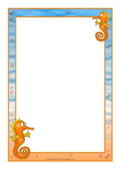 Seahorse A4 page borders